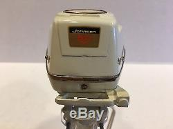 Vintage 1959 Johnson 50hp Super Sea Horse Toy Outboard Motor withBox & Stand