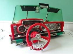 Vintage 1960's Deluxe Reading Corp Playmobile Topper Dashboardrare Red Wheel