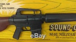 Vintage 1960's Marx Sound-O-Power M-16 Military Rifle NMIB New Old Stock HTF