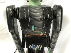 Vintage 1960s Marx Toys Frankenstein Remote Control Battery Tin Robot 13 RARE