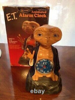 Vintage 1982 E. T Official Animated Alarm Clock Extra Terrestrial Nelsonic ET toy