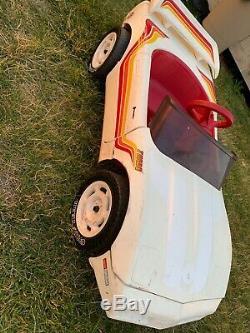 Vintage 1994 Rare Find Power Wheels White Red Orange Turbo Corvette V6 GUC