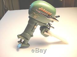 Vintage 25 Johnson Electric Toy Outboard Motor with Original Box & Instructions