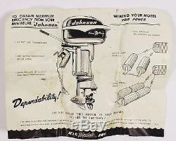 Vintage 35 Johnson Electric Toy Outboard Motor with Original Box & Instructions