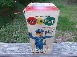 Vintage A1 Amico Battery Operated Traffic Policeman toy made in Japan