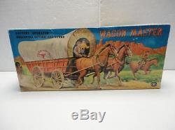 Vintage Battery Operated Western WAGON MASTER Modern Toys Prestine! Beautiful
