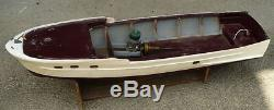 Vintage Chris Craft RC gas powered motorized wooden boat NICE ONE