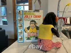 Vintage Daishin Japan Musical Jolly Chimp Toy Story Monkey withHangTag & Box Works