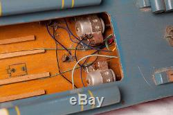 Vintage ITO 33 LONG Battery Operated Navy Destroyer 1950s Toy Boat Unrestored