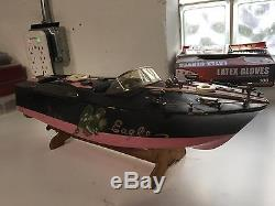 Vintage ITO model boat battery operated toy works