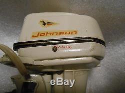 Vintage Johnson 75 Electric Sea Horse Toy Boat Motor Japan