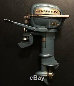 Vintage K & O Evinrude 30 Big Twin Outboard Toy Boat Motor Japan Original Box