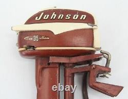 Vintage K&O Johnson 35 HP Seahorse Toy Outboard Motor Model Wood Boat Sea Horse