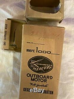 Vintage K&O Mercury Mercury 1000 Toy Model Boat Outboard Motor with Box NICE RARE