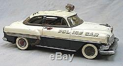 Vintage Marusan Tin 1954 Chevrolet Police Car Battery Operated Working