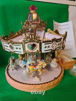 Vintage Matchbox Carousel with 12 Horses 6 Charms, poster, Instruction sheet