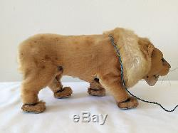 Vintage Mechanical Tin Lion Battery Operated Made in Japan Works (Video)