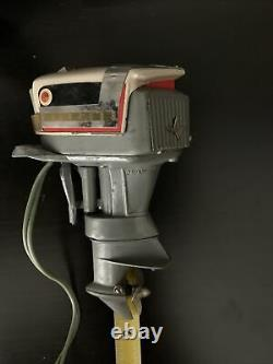 Vintage Miniature EVINRUDE Outboard Boat Motor Toy Used 1950s era Sold As Is