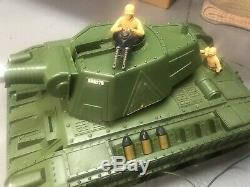 Vintage Motorized 1960s Deluxe Reading Tiger Joe Army Tank Toy