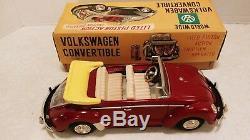 Vintage Nomura Showa Japan Tin Volkswagen Conv Battery & Friction Beetle Bug MIB