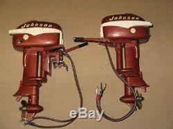 Vintage Pair 3D Johnson Seahorse Electric Toy Outboard Motors