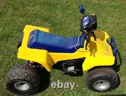 Vintage Power Wheels Suzuki Quadracer Quadzilla ATV Quad Racer Kransco 1990 Old