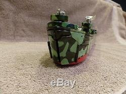 Vintage Rare Marx Toy Fighting L. S. T. Battery Operated Tin Army Ship 1964 withBox