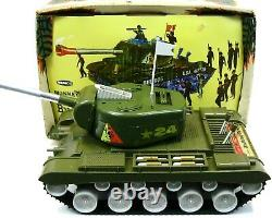 Vintage Remco Large Monkey Division Motorized US Army Bulldog Tank withBox Works