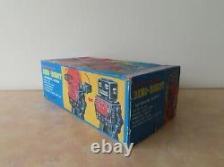Vintage SH Horikawa Battery Operated Dino-Robot Tin Toy, Japan Godzilla Monster