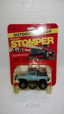 Vintage Schaper Stomper 4x4's Blue Jeep Brand New Rare
