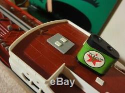 Vintage Texaco battery operated model gas, oil tanker ship North Dakota. Rare