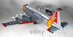 Vintage Tin B/O Douglas C-124 Globemaster Airplane by Yonezawa of Japan, 1960's