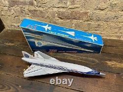 Vintage Tin Daiya Battery Operated Boeing 2707 Sst Working & Box Rare Pan Am Nos