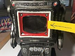 Vintage Tin S-H Co. Battery Operated Mars King Robot 1960s Japan