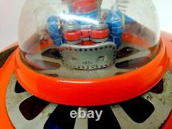 Vintage Tin Toy KO Made in Japan Battery Operated Flying Saucer. Working. Rare