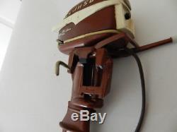 Vintage Toy Outboard Motor- K&o Johnson Seahorse 35 Hp. Vintage Boat Motor