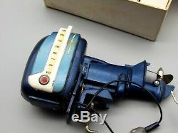 Vtg Evinrude Battery Operated K&O Toys Outboard Motor Electric Starling + Box