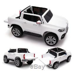 White 12V Benz Kids Ride on Truck Motorized Cars Electric Bluetooth withRemote