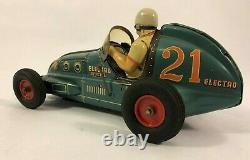 Yonezawa Japan Vintage Tin Toy Electro Special Race Car 1950s Rare Color Blue